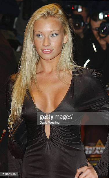 Natalia Denning arrives at the UK film premiere of National Treasure at Odeon West End on December 5 2004 in London