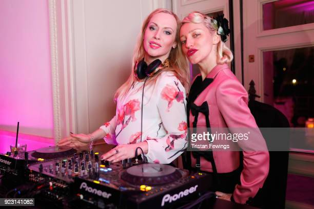 Natalia Dolgova and Ania J attend Humans of Fashion Foundation Launch on February 22 2018 in Milan Italy