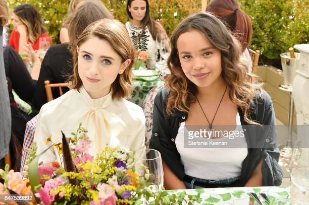 Natalia Dyer and Alisha Boe attend Glamour x Tory Burch Women To Watch Lunch on September 15 2017 in Beverly Hills California