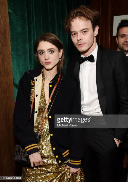 Natalia Dyer and Charlie Heaton attend 2020 Netflix SAG After Party at Sunset Tower on January 19 2020 in Los Angeles California