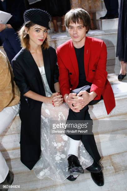 Natalia Dyer and Charlie Heaton attend the Christian Dior Couture S/S19 Cruise Collection on May 25 2018 in Chantilly France