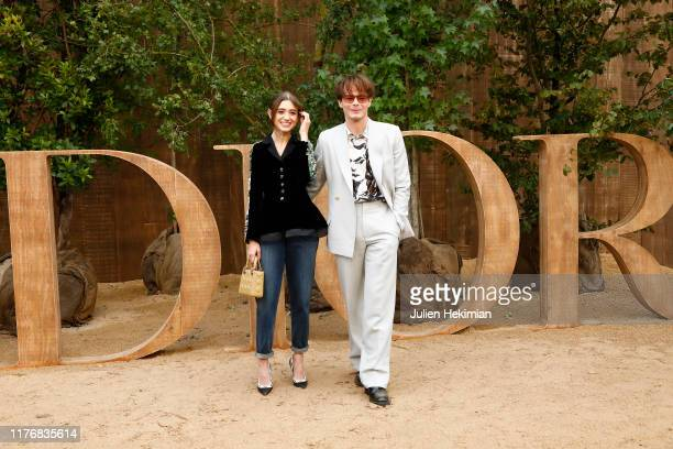 Natalia Dyer and Charlie Heaton attend the Christian Dior Womenswear Spring/Summer 2020 show as part of Paris Fashion Week on September 24, 2019 in...