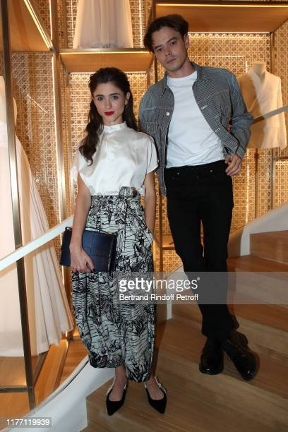 Natalia Dyer and Charlie Heaton attend the Dior ChampsElysees Flagship Inauguration on September 25 2019 in Paris France