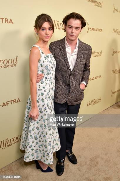 Natalia Dyer and Charlie Heaton attend The Hollywood Reporter & SAG-AFTRA 2nd annual Emmy Nominees Night presented by Douglas Elliman and Heineken at...