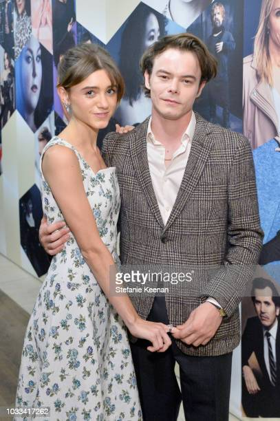 Natalia Dyer and Charlie Heaton attend The Hollywood Reporter SAGAFTRA 2nd annual Emmy Nominees Night presented by Douglas Elliman and Heineken at...