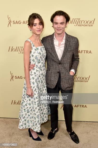 Natalia Dyer and Charlie Heaton attend The Hollywood Reporter and SAGAFTRA Annual Nominees Night to celebrate Emmy Award contenders at Avra Beverly...