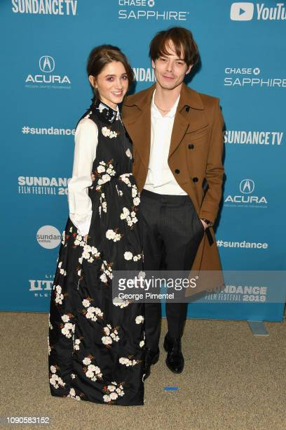 """Natalia Dyer and Charlie Heaton attend the """"Velvet Buzzsaw"""" Premiere during the 2019 Sundance Film Festival at Eccles Center Theatre on January 27,..."""