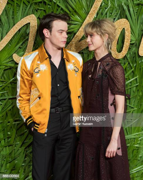 Natalia Dyer and Charlie Heaton attends The Fashion Awards 2017 in partnership with Swarovski at Royal Albert Hall on December 4 2017 in London...