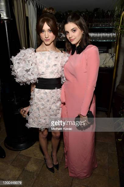 Natalia Dyer and Francesca Reale are seen as Entertainment Weekly Celebrates Screen Actors Guild Award Nominees at Chateau Marmont on January 18 2020...