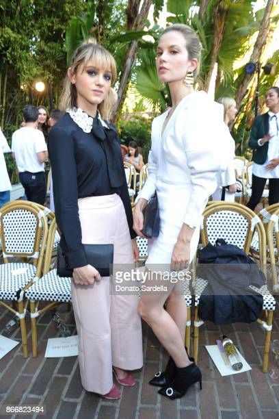 Natalia Dyer and Sylvia Hoeks attend CFDA/Vogue Fashion Fund Show and Tea at Chateau Marmont at Chateau Marmont on October 25 2017 in Los Angeles...