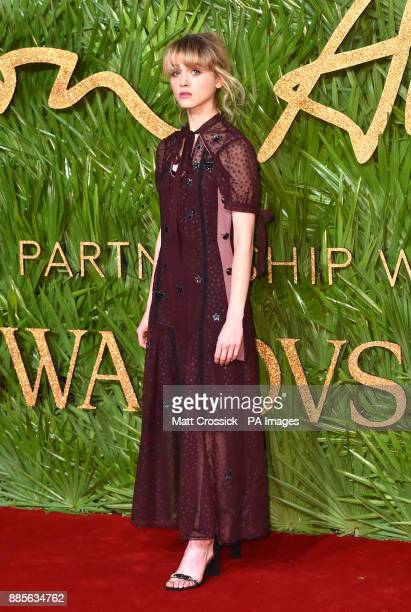 Natalia Dyer attending the Fashion Awards 2017 in partnership with Swarovski held at the Royal Albert Hall London Picture Date Monday 4th December...