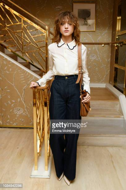 Natalia Dyer attends Glamour x Tory Burch Women To Watch Lunch on September 16 2018 in Los Angeles California