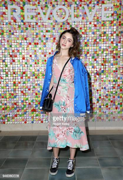 Natalia Dyer attends #REVOLVEfestival Day 1 on April 14 2018 in La Quinta California