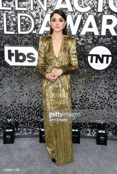 Natalia Dyer attends the 26th Annual Screen Actors Guild Awards at The Shrine Auditorium on January 19, 2020 in Los Angeles, California.