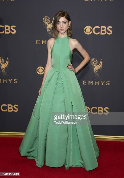 Natalia Dyer attends the 69th Annual Primetime Emmy Awards at Microsoft Theater on September 17 2017 in Los Angeles California