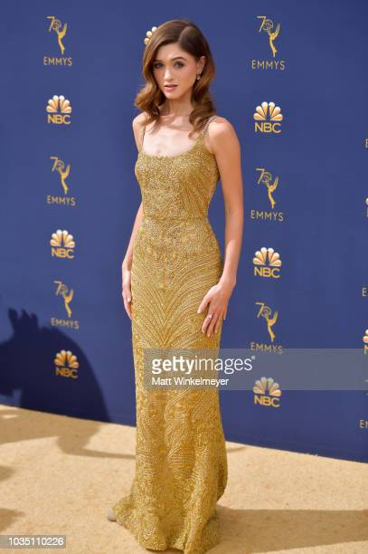Natalia Dyer attends the 70th Emmy Awards at Microsoft Theater on September 17 2018 in Los Angeles California