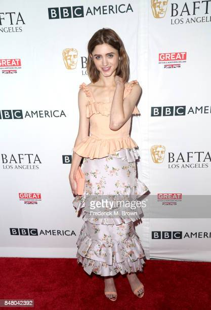 Natalia Dyer attends the BBC America BAFTA Los Angeles TV Tea Party 2017 at The Beverly Hilton Hotel on September 16 2017 in Beverly Hills California