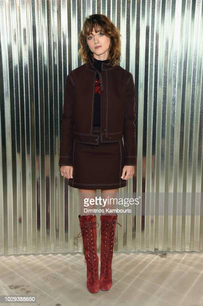 Natalia Dyer attends the Longchamp Spring 2019 runway show during New York Fashion Week at World Trade Center on September 8 2018 in New York New York