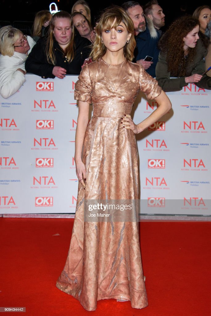 Natalia Dyer attends the National Television Awards 2018 at The O2 Arena on January 23, 2018 in London, England.