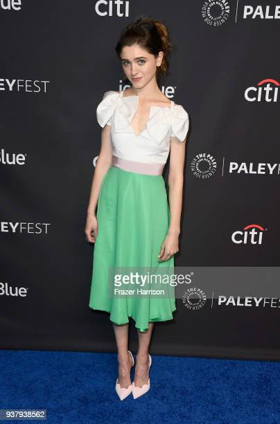 Natalia Dyer attends The Paley Center for Media's 35th Annual PaleyFest Los Angeles 'Stranger Things' at Dolby Theatre on March 25 2018 in Hollywood...