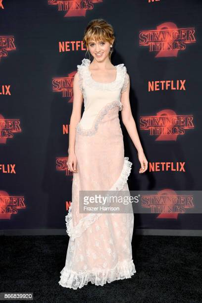 Natalia Dyer attends the premiere of Netflix's 'Stranger Things' Season 2 at Regency Bruin Theatre on October 26 2017 in Los Angeles California