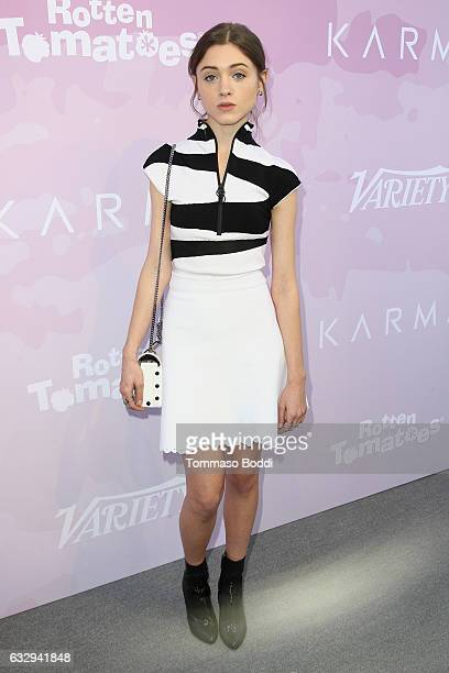 Natalia Dyer attends the Variety's Celebratory Brunch Event For Awards Nominees Benefitting Motion Picture Television Fund held at Cecconi's on...