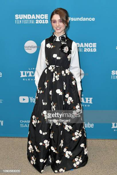 Natalia Dyer attends the Velvet Buzzsaw Premiere during the 2019 Sundance Film Festival at Eccles Center Theatre on January 27 2019 in Park City Utah