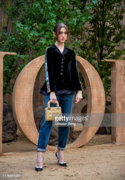 Natalia Dyer is seen outside Dior show during Paris Fashion Week Womenswear Spring Summer 2020 on September 24, 2019 in Paris, France.
