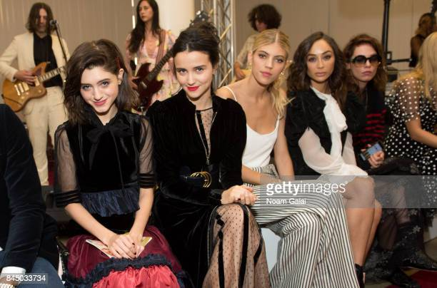 Natalia Dyer Julia Goldani Telles Devon Windsor Cara Santana and Cory Kennedy attend the Jill Stuart fashion show during New York Fashion Week on...