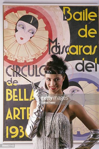 Natalia Estrada model and television presenter At a Carnival party