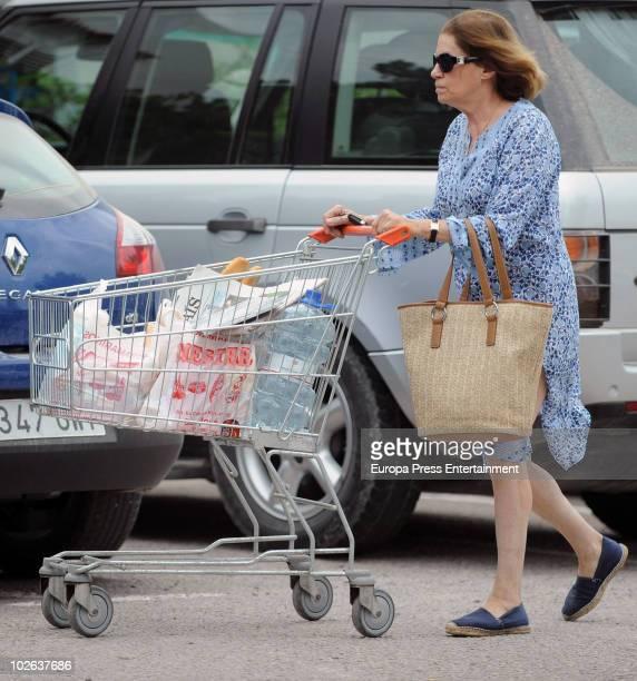 Natalia Figeroa Spanish journalist and wife of singer Raphael sighting on July 6 2010 in Ibiza Spain