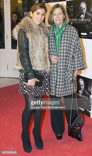 Natalia Figueroa and Alejandra Martos attend Bertin Osborne's concert on December 22 2015 in Madrid Spain