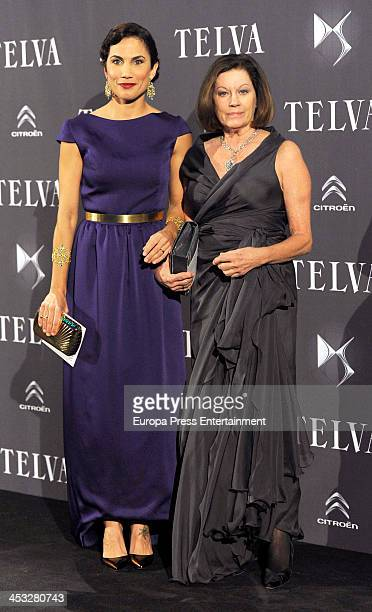 Natalia Figueroa and Toni Acosta attend 2013 Telva Fashion Awards on December 2 2013 in Madrid Spain