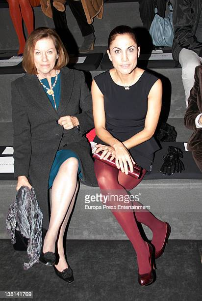 Natalia Figueroa and Toni Acosta attend a show during MercedesBenz Fashion Week Madrid A/W 2012 at Ifema on February 2 2012 in Madrid Spain