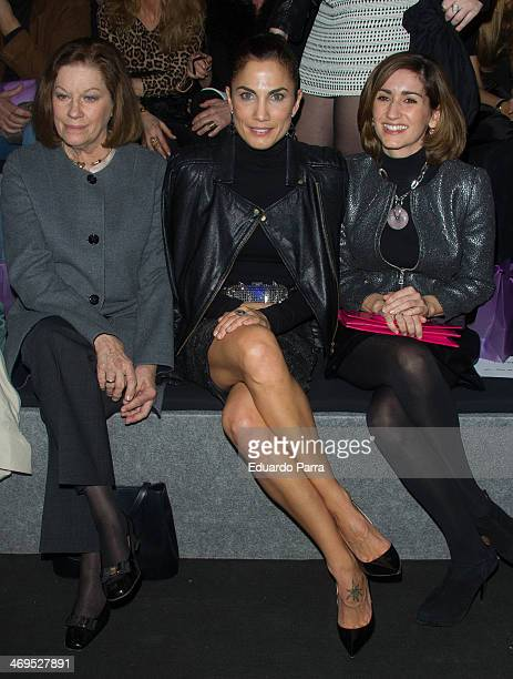 Natalia Figueroa Toni Acosta and Alejandra Martos attend Mercedes Benz Fashion Week Madrid W/F 2014 at Ifema on February 15 2014 in Madrid Spain