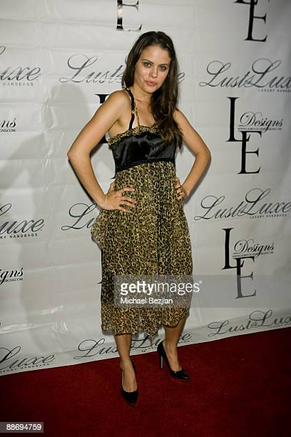 Natalia Flores attends the LaurenElaine designs runway event at Le Doux on June 25 2009 in Los Angeles California
