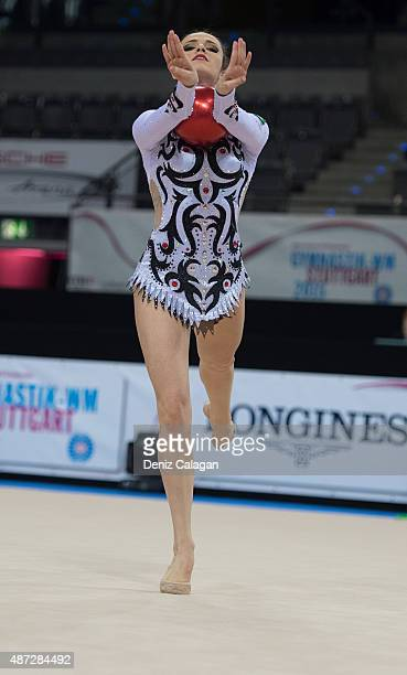 Natalia Gaudio of Brazil competes during the 34th Rhythmic Gymnastics World Championships on September 8 2015 in Stuttgart Germany