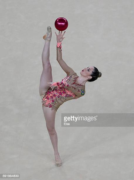 Natalia Gaudio of Brazil competes during the Rhythmic Gymnastics Individual AllAround on August 19 2016 at Rio Olympic Arena in Rio de Janeiro Brazil