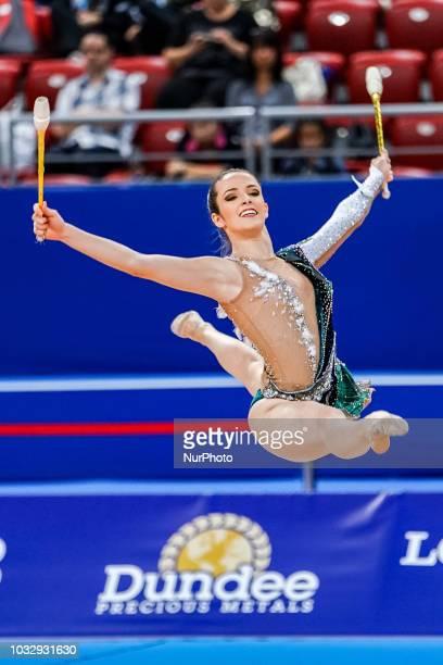 Natalia Gaudio of Brazil during Rhythmic Gymnastics World Championships at the Arena Armeec in Sofia at the 36th FIG Rhythmic Gymnastics World...