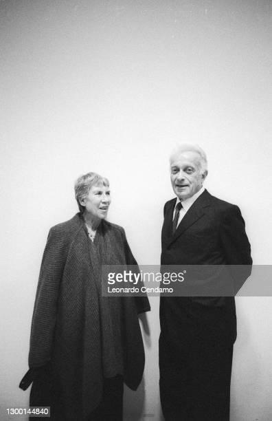 Natalia Ginzburg Italian writer, Giulio Einaudi Italian publisher, Mantova, Italy, 21st October 1988.