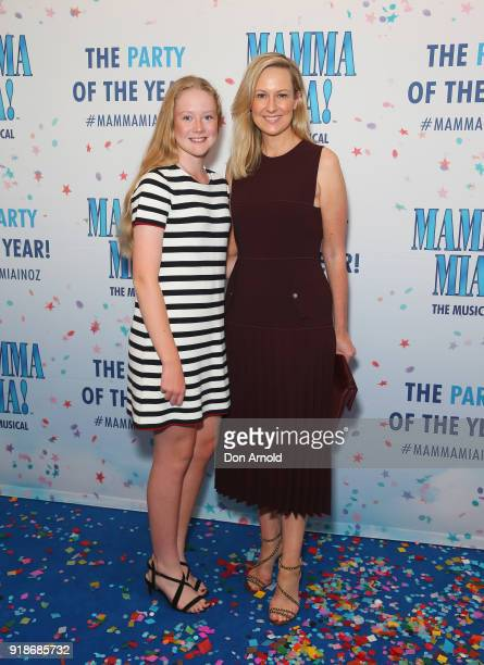 Natalia Grace Dunlop and Melissa Doyle arrive ahead of the premiere of Mamma Mia The Musical at Capitol Theatre on February 15 2018 in Sydney...