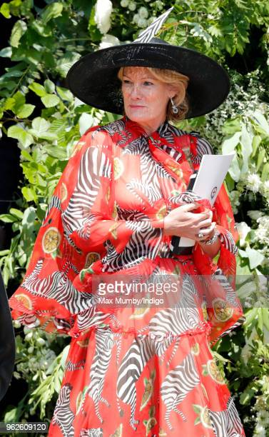 Natalia Grosvenor Duchess of Westminster attends the wedding of Prince Harry to Ms Meghan Markle at St George's Chapel Windsor Castle on May 19 2018...