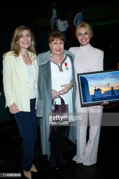 Natalia Guillen Cayetana Guillen Cuervo and her mother Gemma Cuervo attend 'Madrid Culture Awards' at Canal Theatre on April 29 2019 in Madrid Spain
