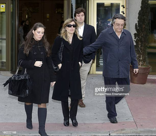 Natalia Guillen Cuervo attends the funeral chapel for actor Fernando Guillen at Tres Cantos chapel on January 18 2013 in Madrid Spain