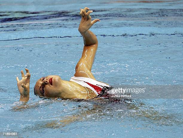 Natalia Ishchenko of Russia performs during the Solo Free Routine at FINA Synchronised Swimming World Cup on September 15 2006 in Yokohama Japan