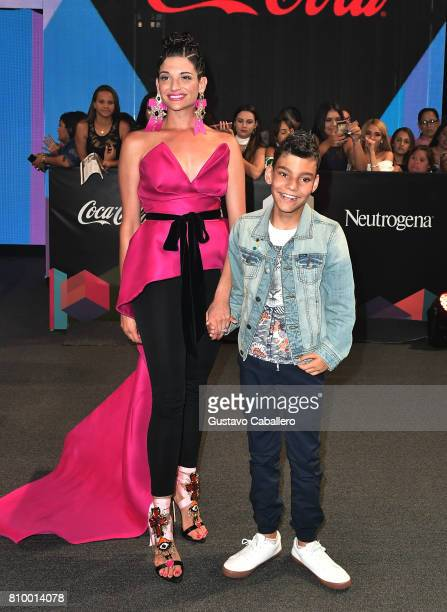 Natalia Jimenez and guest attend the Univision's 'Premios Juventud' 2017 Celebrates The Hottest Musical Artists And Young Latinos ChangeMakers at...