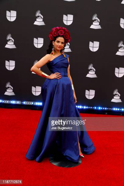 Natalia Jiménez attends the 20th annual Latin GRAMMY Awards at MGM Grand Garden Arena on November 14, 2019 in Las Vegas, Nevada.