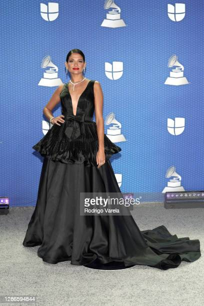 Natalia Jiménez attends The 21st Annual Latin GRAMMY Awards at American Airlines Arena on November 19, 2020 in Miami, Florida.