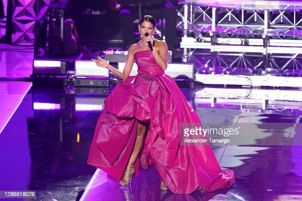 Natalia Jiménez performs onstage during The 21st Annual Latin GRAMMY Awards at American Airlines Arena on November 19, 2020 in Miami, Florida.