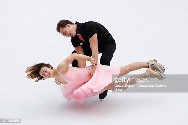 Natalia Kaliszek and Maksim Spodirev of Poland compete in the Ice Dance Free Dance on day two of Audi Cup of China ISU Grand Prix of Figure Skating...